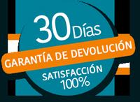 Garantia Devolucion 30 días, Satisfacción 100%